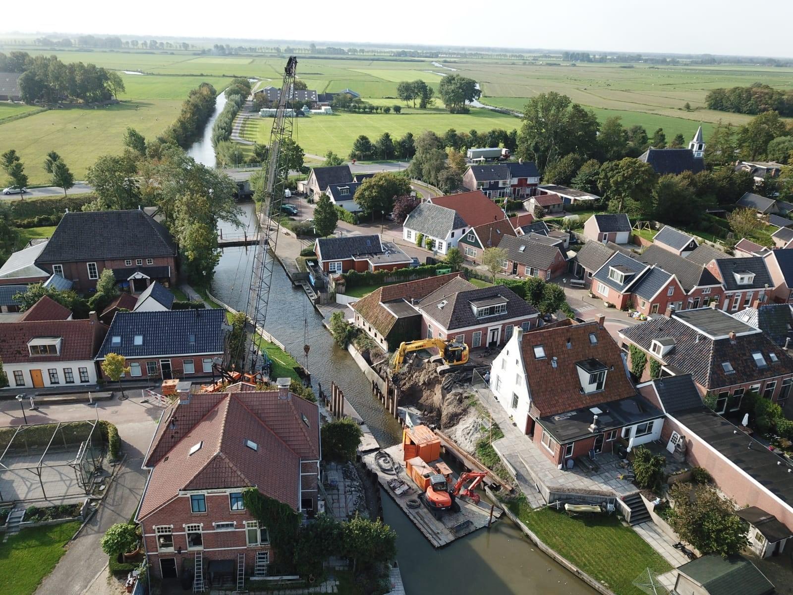 Update werkzaamheden vervangen brug over Niezijlsterdiep