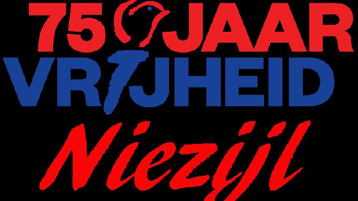 75 jaar bevrijd; vlag om te herdenken